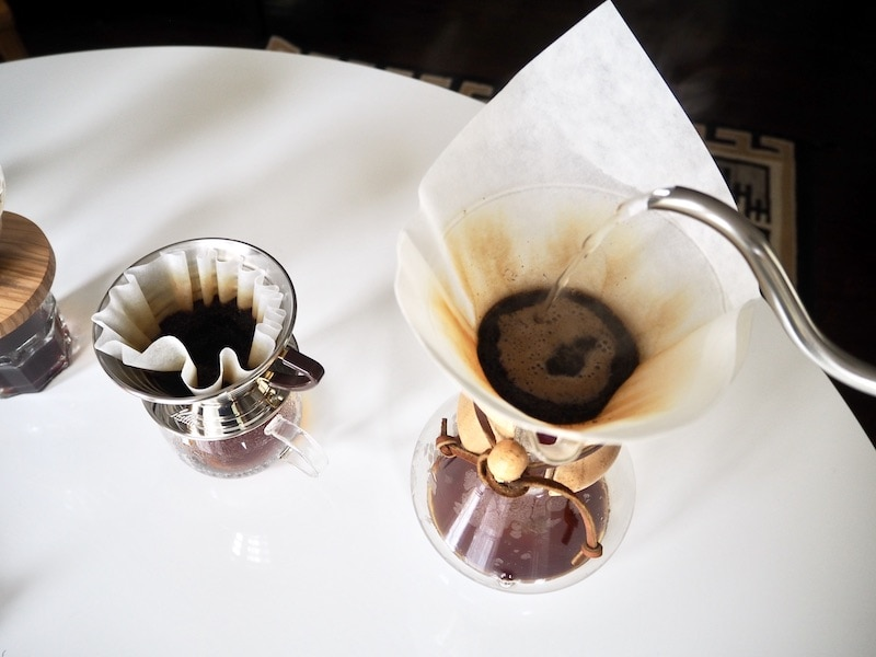 pour over coffee water