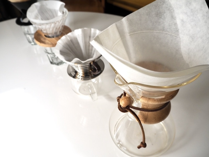 set up pour over coffee makers