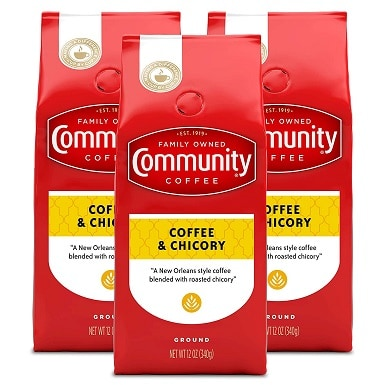 2Community Coffee Ground Coffee & Chicory Blend