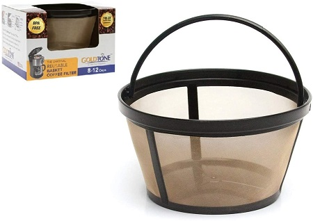 5GOLDTONE Reusable 8-12 Cup Basket Coffee Filter