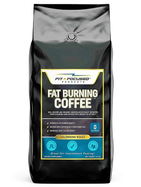 6Fat Burning Coffee- Organic Colombian Ground Roast Infused With Green Tea Extract