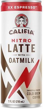8Califia Farms - Nitro Cold Brew Coffee, Oat Milk Latte