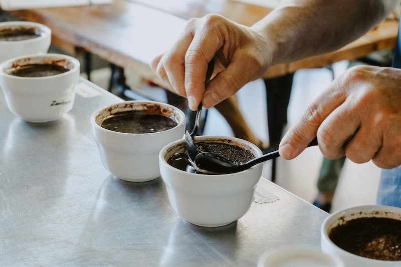 coffee cupping preparation