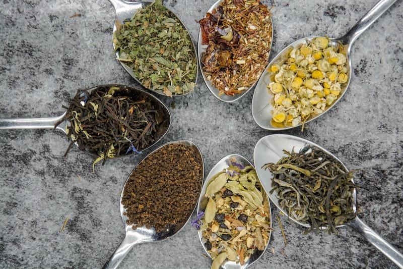 types of tea leaves