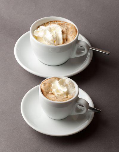 2 cups of Espresso con Panna