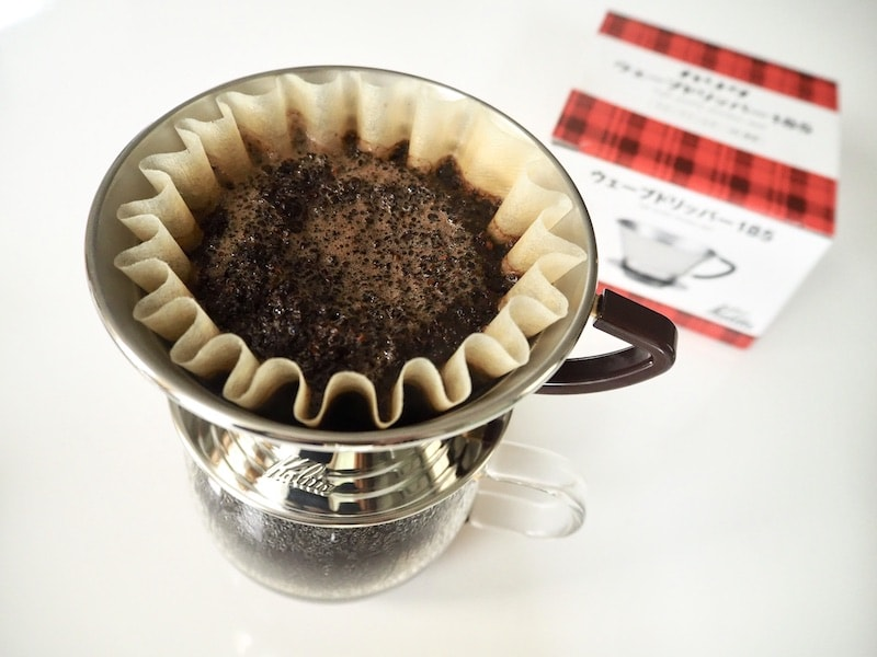 Kalita Wave coffee bloom