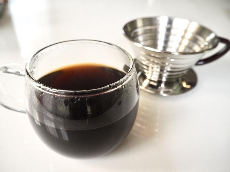 Kalita Wave coffee brewed