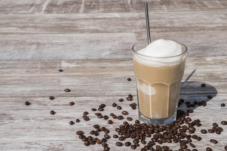 a frozen coffee