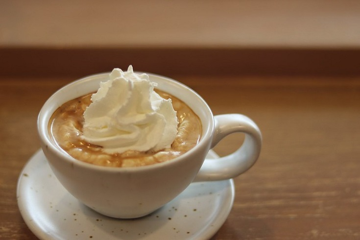 an Espresso con Panna