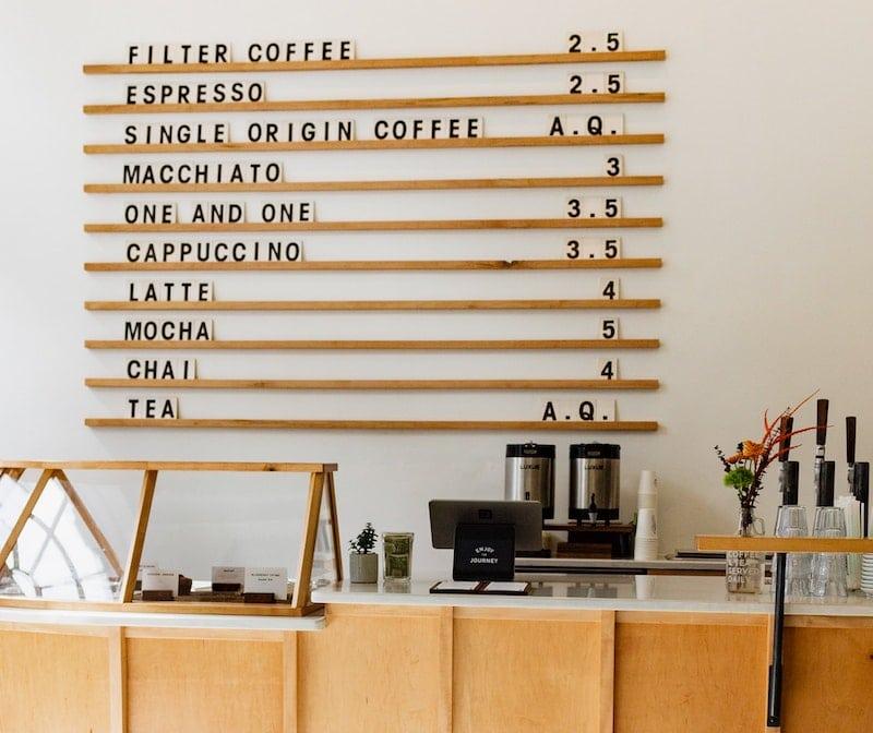 british coffee tea room menu
