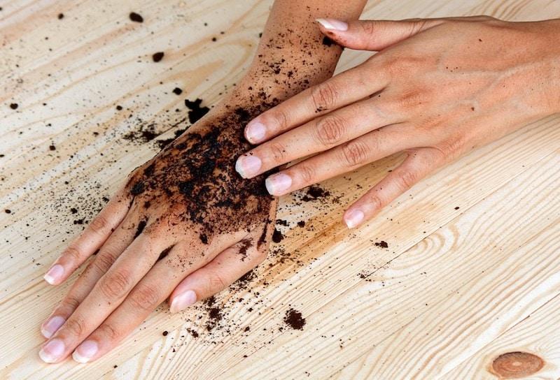coffee scrub exfoliating