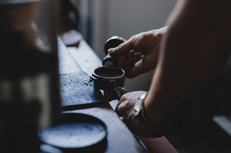 espresso tamping