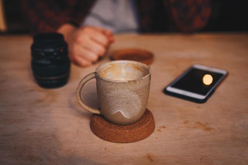 rough ceramic coffee cup