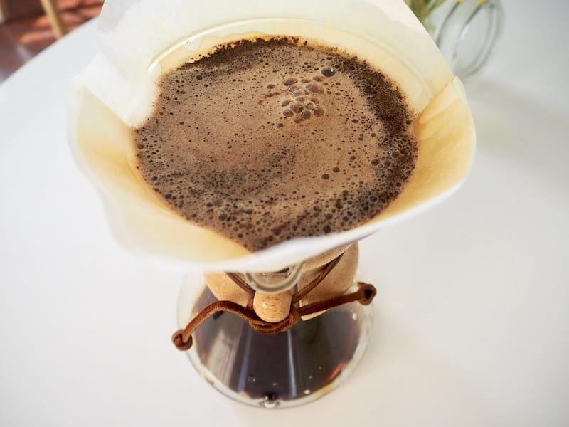 Chemex coffee bloom