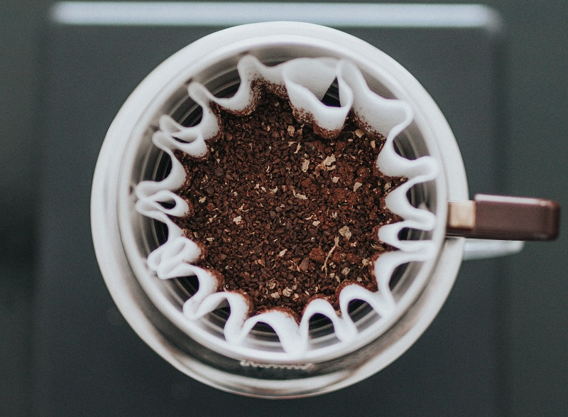 Coffee Grounds on Coffee Filter