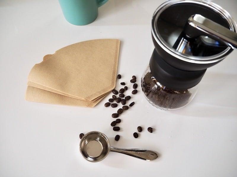 coffee grinder scoop and filters