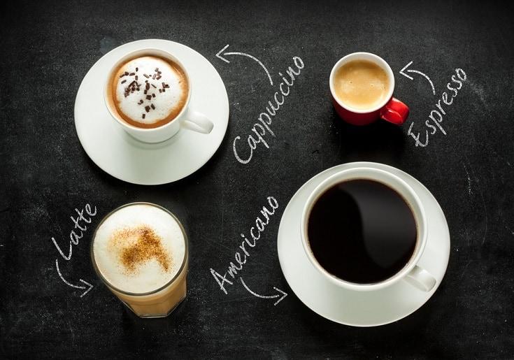 kinds of coffee