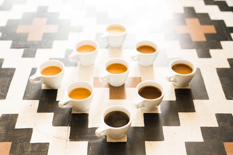 lots of coffee cups