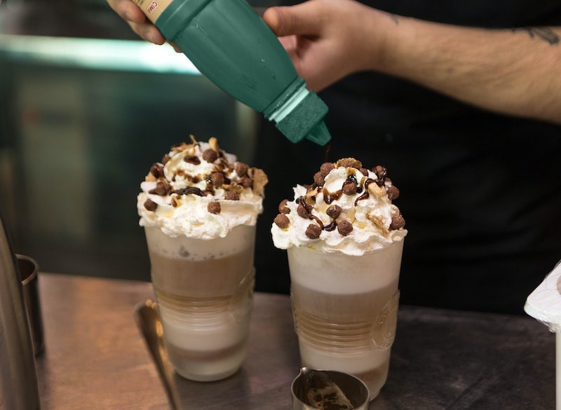 whipped cream coffee toppings