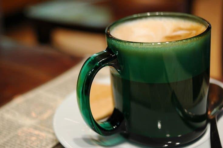 Café Au Lait in green mug
