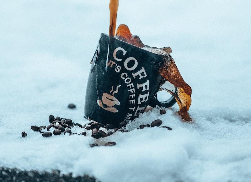 coffee in freezer