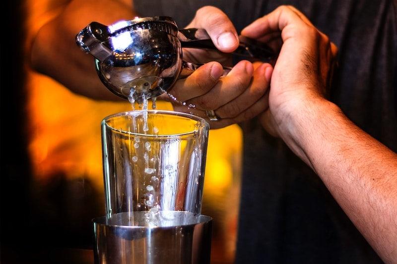 lemon juice cocktail shaker