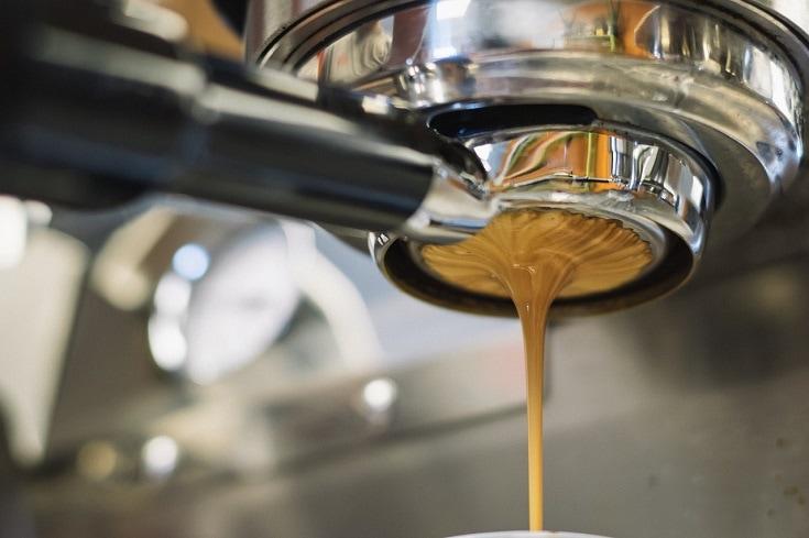group head espresso with crema