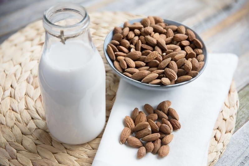 almond milk in coffee