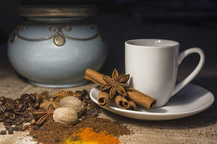 coffee and spices-nutmeg