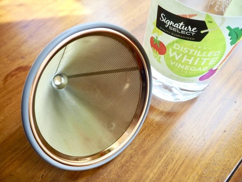 reusable coffee filter vinegar