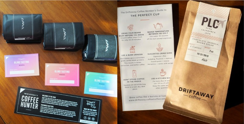 driftaway and angels' cup coffee subscriptions