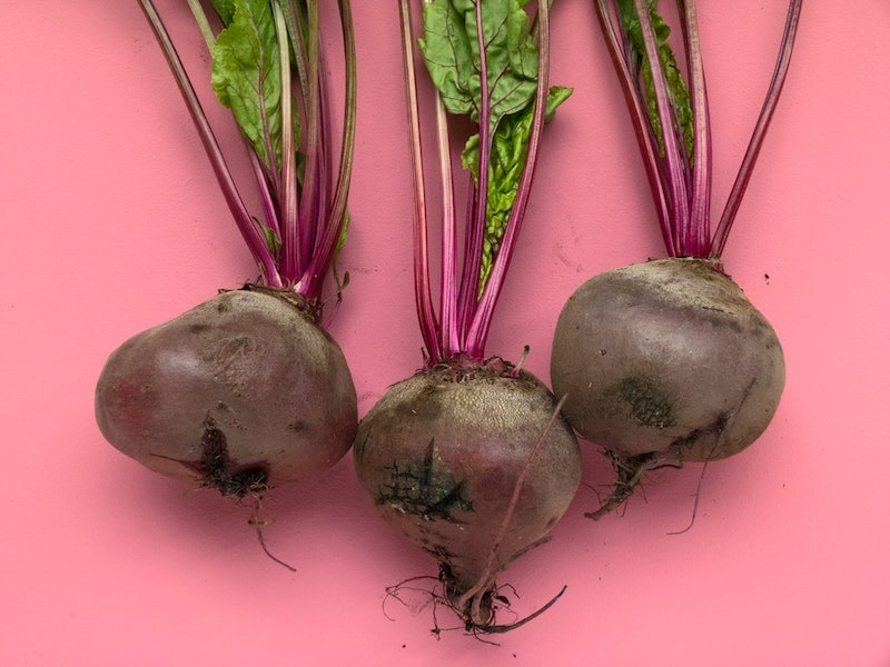 fresh beets for lattes