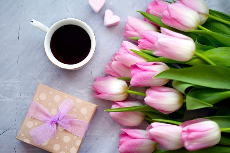 mother's day coffee gifts flowers