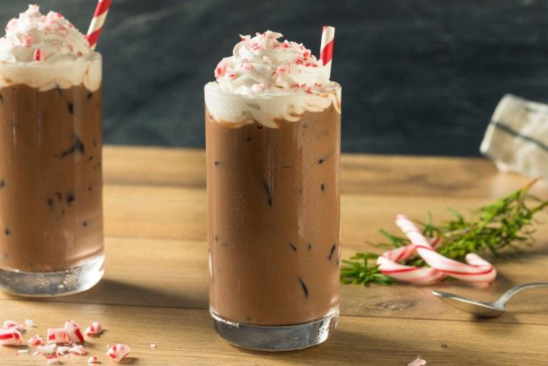 peppermint mocha creamer iced coffee