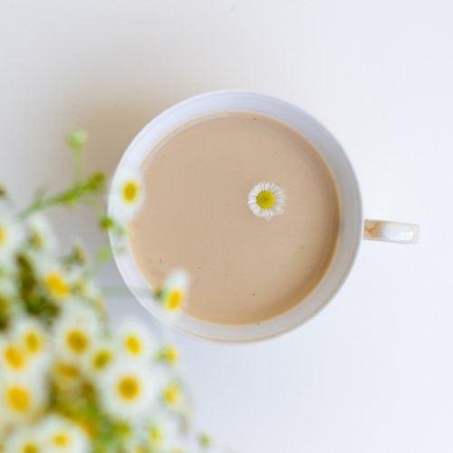 چای لاته بابونه