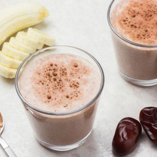 coffee smoothie vegan banana and dates