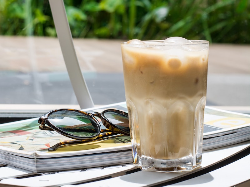 summer iced coffee drink