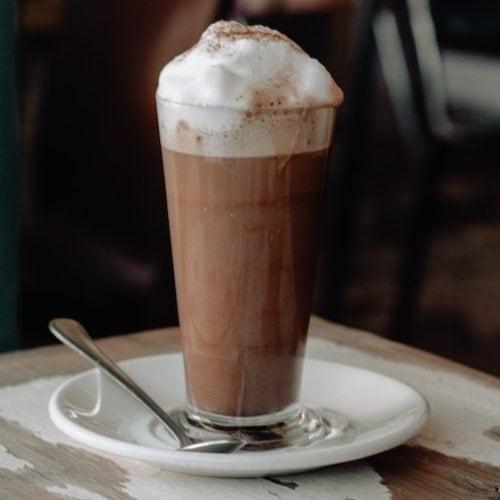 Bavarian coffee hot cocktail
