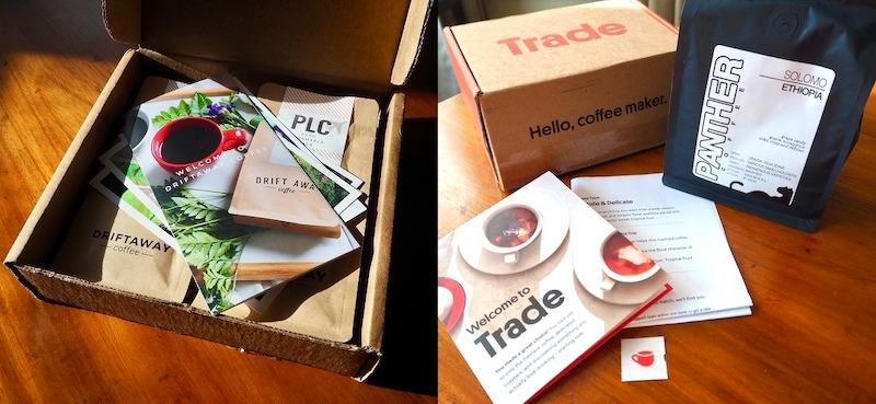 Driftaway vs Trade coffee subscriptions