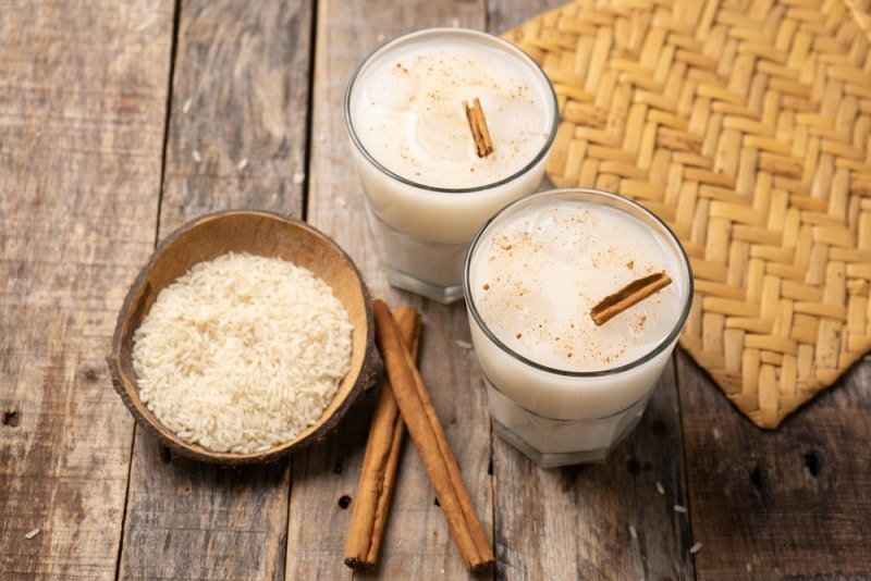 horchata latte with rice and cinnamon