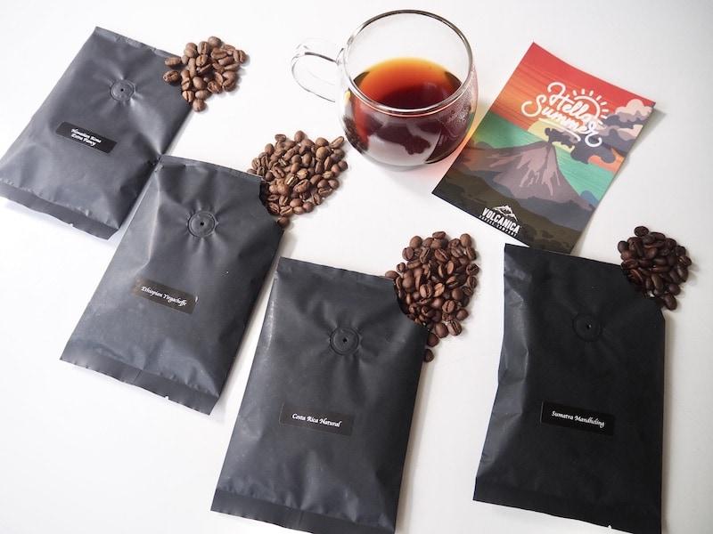 Volcanica Coffee samples