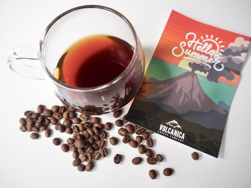Volcanica coffee brewed with beans