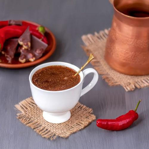فلفل قرمز در قهوه