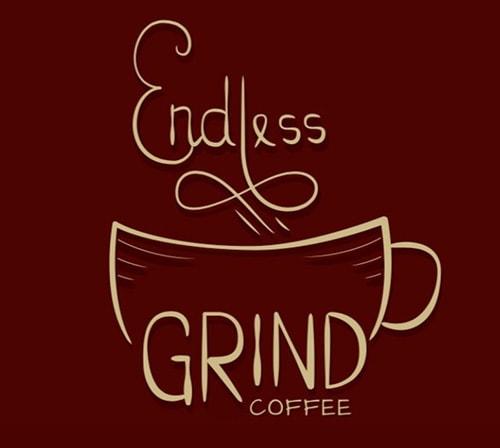 لوگوی آسیاب بی پایان قهوه