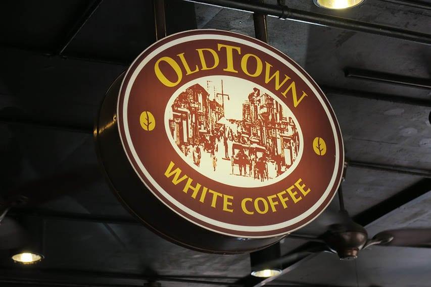 قرص های قهوه سفید در شهر قدیمی مالزی
