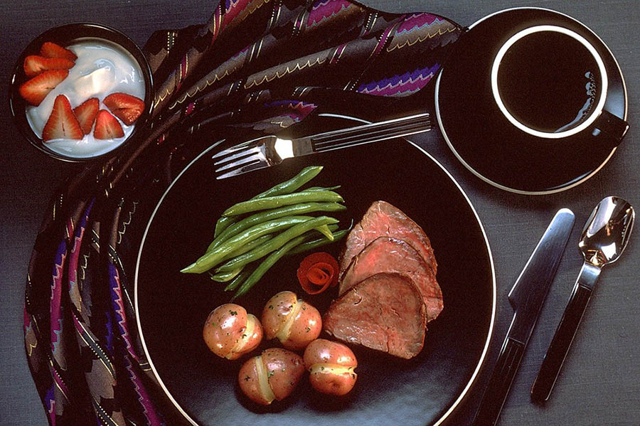 گوشت گاو و قهوه
