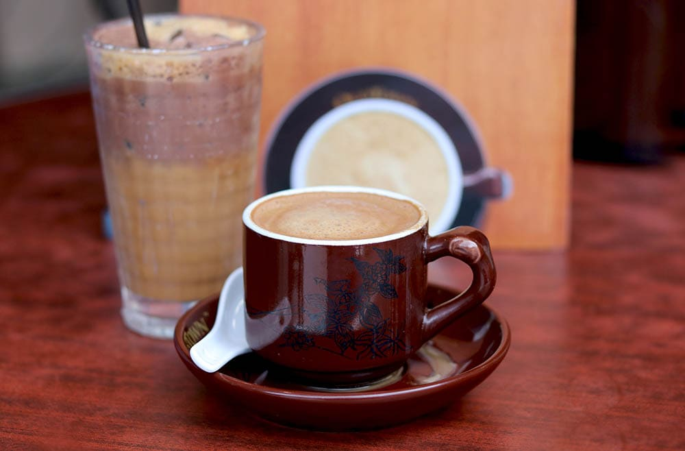 cup of Malaysian White Coffee