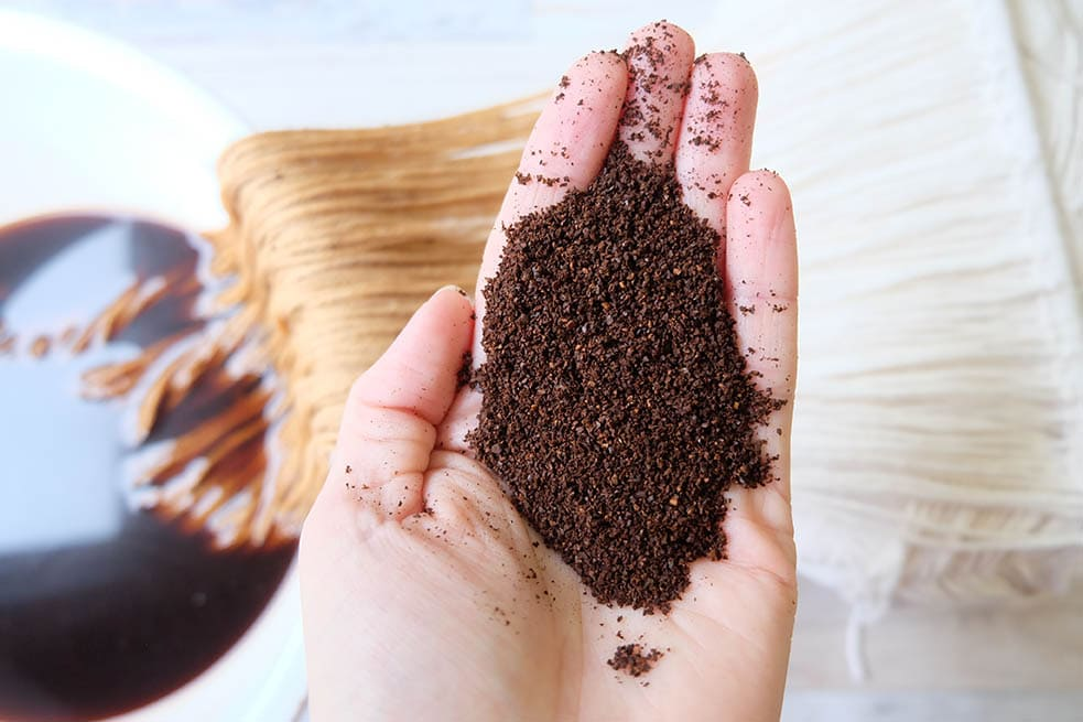 dyeing fabric with coffee
