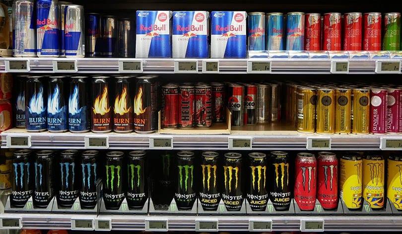 energy drinks on store shelves